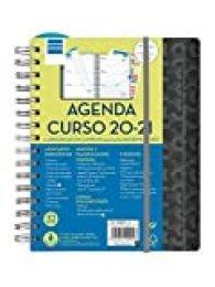 Finocam - Agenda Docente 2020-2021 Cuarto - 155x212 Semana Vista Apaisada Magistral Hexa Negro Español