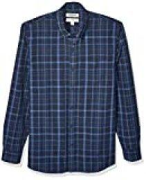 Goodthreads Standard-fit Long-Sleeve Pattern Chambray Shirt Hombre