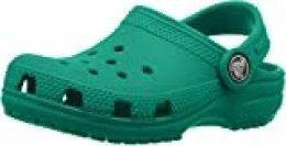 Crocs Classic Clog Kids Roomy fit, Zuecos Unisex niños, Verde (Deep Green 3tj), 19/20 EU
