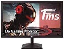 "LG 22MK400H-B - Monitor Gaming FHD de 55.8 cm (22"") con Panel TN (1920 x 1080 píxeles,  16:9,  1 ms,  75Hz,  200 cd/m²,  600:1,  NTSC >72%, D-SUB x1, HDMI x1) Color Negro Mate"