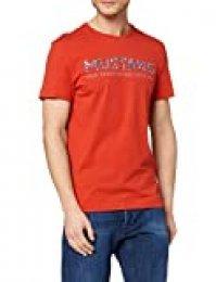 Mustang Aaron C Print Camiseta, Rojo (Molten Lava 7179), Small para Hombre