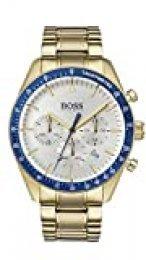 Hugo Boss Reloj Cronógrafo para Hombre de Cuarzo con Correa en Bañada en Oro 1513631