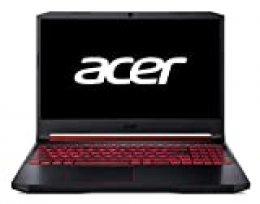 "Acer Nitro 5 - Ordenador Portátil de 15.6"" FHD ComfyView IPS LED LCD (Intel Core i7-9750H, 8 GB de RAM, SSD de 256GB, NVIDIA GeForce GTX 1050, Sin sistema operativo) negro - Teclado QWERTY Español"