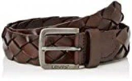Levi's LEVIS FOOTWEAR AND ACCESSORIES Trenza Belt Cinturón, Marrón (Brown 28), 80 para Hombre