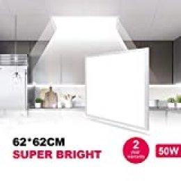 Natur panel led 62x62cm 50W 5000lm,iluminacion led Slim Blanco Frio 6500K Adecuado para oficinas, dormitorios, baños, salones, balcones y pasillos, etc.[Clase de eficiencia energética A++]