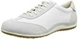 Geox D Vega A, Zapatillas para Mujer, Blanco (Off White and White C1209), 40 EU