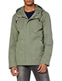 Springfield 4Av-Parkita Ligera Chaqueta, Verde (Green 21), Large (Tamaño del Fabricante: L) para Hombre