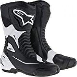 Alpinestars SMX S - Botas de Motorista (Talla 36), Color Negro y Blanco