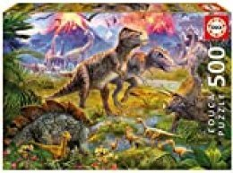 Educa- Puzzles 500 Piezas, Encuentro de Dinosaurios (15969)