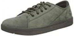 Timberland Davis Square Leather Oxford, Zapatillas Unisex-Niño, Verde (Dark Green Nubuck), 31 EU