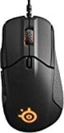 SteelSeries Rival 310 - Ratón de juego óptico, iluminación RGB, 6 botones, laterales de goma, memoria integrada (PC/Mac), negro