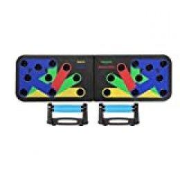 SHINYEVER 12 en 1 Tabla de Flexiones, Plegable Tablero Push-ups Board Sistema Portátil de Músculos Multiparte para el Hogar Equipo de Entrenamiento Físico Ejercicio Extraíble