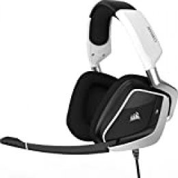 Corsair VOID PRO RGB USB - Auriculares para Juegos con Cable, PC, USB, Dolby Headphone 7.1, color Blanco