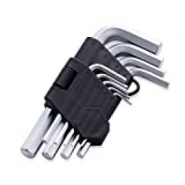 FINDER XJ193126P Arm Hex Key Wrench Set Chrome Vanadium, Metric, set of 9 pieces, Standard