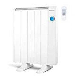 Orbegozo RRE 810 Emisor Térmico Bajo Consumo, 5 Elementos de Calor, Pantalla Digital LCD, Mando a Distancia, Funcionamiento Programable, 800 W, Color Blanco