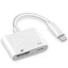Hoidokly Adaptor a HDMI convertidor de Cable de Phone a HDMI Adaptador HDMI Digital AV Conector HDMI para Phone XS/XS MAX/XR/X/8/7 /6/5 Series/Pad Air/Mini/Pro/Pod Touch