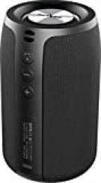 Altavoz Bluetooth Portátil, Altavoces Bluetooth Portátiles ZEALOT S32 Mini. Impermeable, 24 Horas de Reproducción, TWS Sonido Estéreo, Inalámbrico, Soporta Tarjetas TF y Pendrives