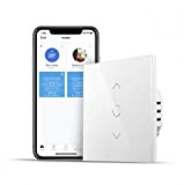 Interruptor de Cortina Inteligente, Wi-Fi Interruptor de Persiana Enrollable. Compatible con Alexa y Google Home. 2,4Ghz. meross. (Se Requiere un Cable Neutral).