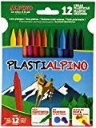 Alpino PA000012 - Estuche con 12 ceras
