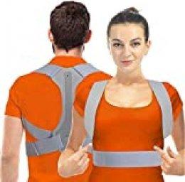 Corrector Postura HOPAI Corrector de Postura Espalda y Hombros para Hombre y Mujer Faja para Dolor de Espalda Corregir de Postura (S (60-70 cm))