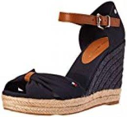 Tommy Hilfiger Basic Opened Toe High Wedge, Sandalias con Punta Abierta para Mujer, Azul (Desert Sky Dw5), 40 EU