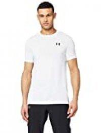 Under Armour UA Seamless SS Manga Corta para Hombre, Camiseta para Correr, Blanco (White 100), S