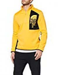 The North Face M Merak 1/4 Forro Polar, Hombre, Yellow/TNF, XXL
