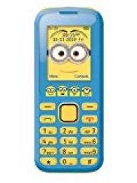 Gru: Mi Villano Favorito GSM20DES Despicable Me GRU, Minions-Teléfono Móvil con Bluetooth, cámara, Doble SIM, Radio, Auriculares (Lexibook, Color Azul/Amarillo