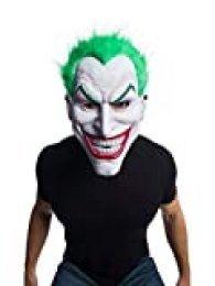 Rubies Máscara Joker PVC con Pelo, Multicolor, Talla nica para Hombre