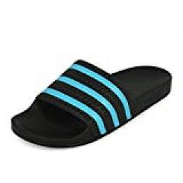 adidas Adilette, Chancletas para Hombre, Negro (Core Black/Blue Glow/Core Black), 39 EU