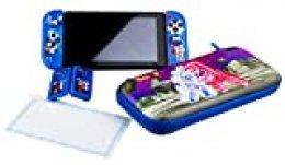 "Dragon Ball - Kit/Pack accesorios Dragon Ball ""Universe"" ( Funda rígida, caja de juegos, grips exclusivos, carcasas rígidas para los Joy-con, protector cristal templado) [Nintendo Switch]"