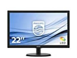"""Philips Monitor 223V5LHSB2/00 - Pantalla para PC de 21.5"""" FHD (resolución 1920 x 1080 Pixels, tecnología WLED, Contraste 600:1, 5 ms, FlieckerFree, VESA; HDMI, sin Altavoces)"""