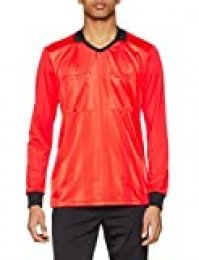 adidas REF18 JSY LS Long Sleeved t-Shirt, Hombre, Bright Red, 2XL