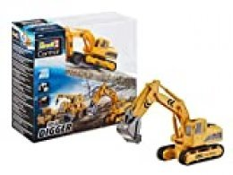 Revell- Mini RC Digger Juguetes a Control Remoto, Color Amarillo (23496)