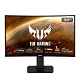 ASUS TUF Gaming VG32VQ - Monitor 32 Pulgadas (WQHD 2560x1440, 144 Hz, Extreme Low Motion Blur Sync, Adaptive-Sync, FreeSync, 1 ms MPRT, HDR10)