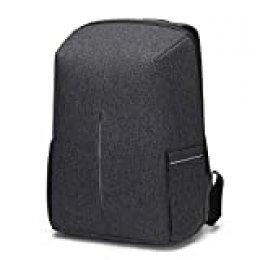 Antirrobo Mochila Seguridad Impermeable con Bloqueo Mochila Hombre Portátil 15,6 Pulgadas con Puerto de USB Mochila de Viaje del Trabajo Viaje Negocio Multifuncional Daypack Gris Oscuro