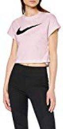 Nike W NSW Swsh Top Crop SS Camiseta, Mujer