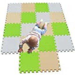 MQIAOHAM juego de enclavamiento juego de bebé tapetes para niños tapetes para niños foammats playmats estera del rompecabezas bebé niños tapete tapete tapete Blanco Beige Frutaverde 101110115