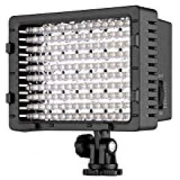 NEEWER CN-160 - Panel de luz LED regulable de 160 piezas para cámara de vídeo y digital SLR  Canon Nikon, Pentax, Panasonic, Sony, Samsung y Olympus