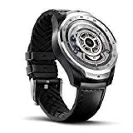 Ticwatch Reloj Inteligente Pro 1GB RAM, Pantalla en Capas para Larga duración de la batería, NFC, 24H frecuencia cardíaca, GPS, Seguimiento del sueño, Música, IP68 Compatible con Android iOS