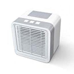 Newentor - Aire acondicionado y humidificador portátil 3 en 1 y 3 velocidades de ventilador, apagado automático para oficina en el hogar