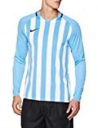 Nike Men's Striped Division III Football Long Sleeved t-Shirt, Hombre, Black/White/White/(Black), M