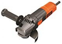 BLACK+DECKER BEG210-QS - Amoladora 115mm, 12.000 rpm, incluye empuñadura lateral