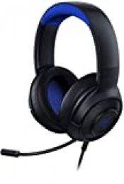 Razer Kraken X para Consolas Auriculares Gaming Ultraligero para PC, Mac, PS4, Xbox One & Switch con sonido Envolvente 7.1, Controles en los Auriculares - Negro / Azul