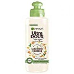 Garnier Ultra Doux Leche de almendra, nutritivo ligero sin aclarado, para cabellos deshidratados, 200 ml, 1 unidad