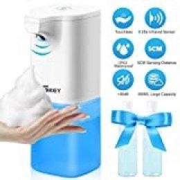 Dispensador de jabón automático eléctrico, 350 ml dispensador de jabón automático con sensor infrarrojo, dispensador de jabón sin contacto para baño y cocina