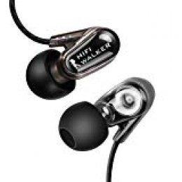 HIFI WALKER A5 controlador dinámico doble Auriculares In-Ear Auriculares Auriculares Auriculares IEM con cancelación de ruido Bajos masivos para Smartphones Tablet PC Reproductor de música y audiófilo