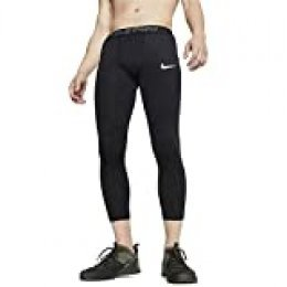 NIKE M NP Tght 3qt Pantalones de Deporte, Hombre, Black/(White), XL