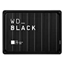 WD BlackP10 - Game Drive de 2 TB para Acceder en Cualquier Momento a tu Biblioteca de Juegos, Funciona con Consola y PC