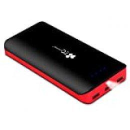 EC TECHNOLOGY Batería Externa 22400mAh Power Bank Cargador Móvil Portátil Móvil con 3 Puertos USB y Luces LED Powerbank Alta Velocidad Cargador para Smartphones Tabletas y Más